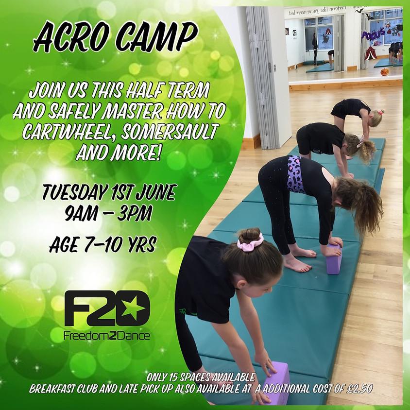 Half Term Acro Camp  7-10 Yrs