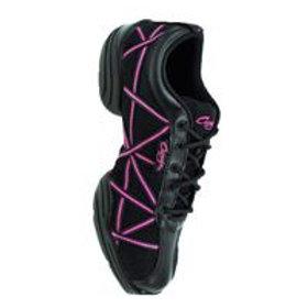 Capezio DS19 Black Web Sneaker (Pink / Black /Silver)
