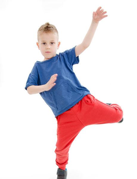 Little cool hip-hop boy in dance. Isolat