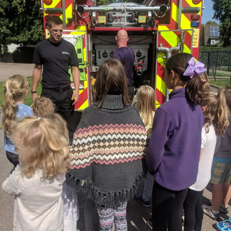 The Firemen came to visit us!