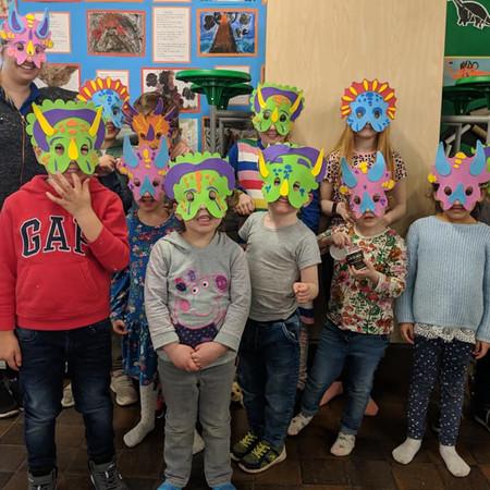 Our fantastic dinosaur masks