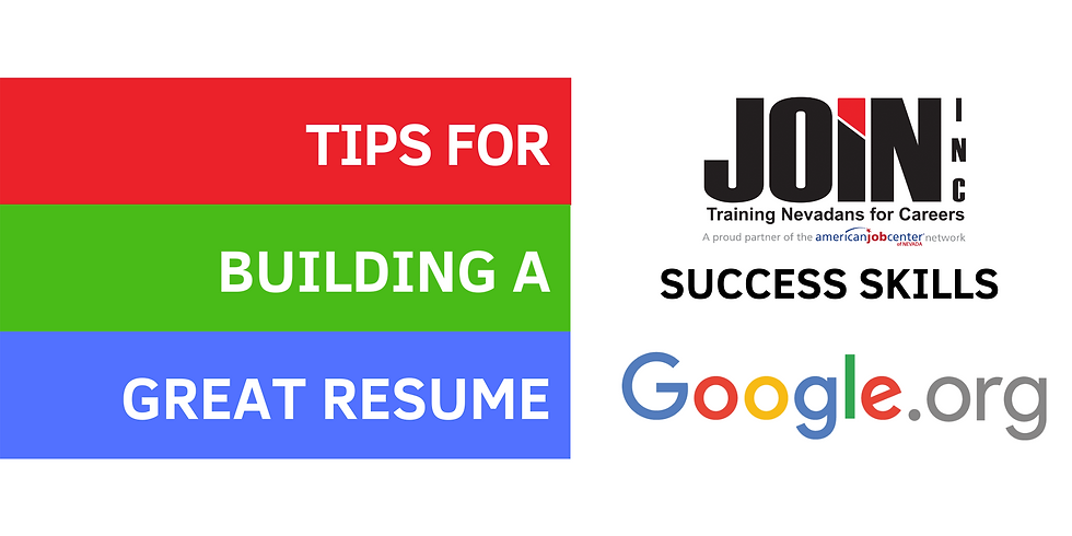 Tips for Building a Great Resume