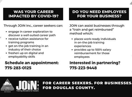 JOIN Inc. partners with Douglas County to provide assistance to COVID-19 impacted career seekers