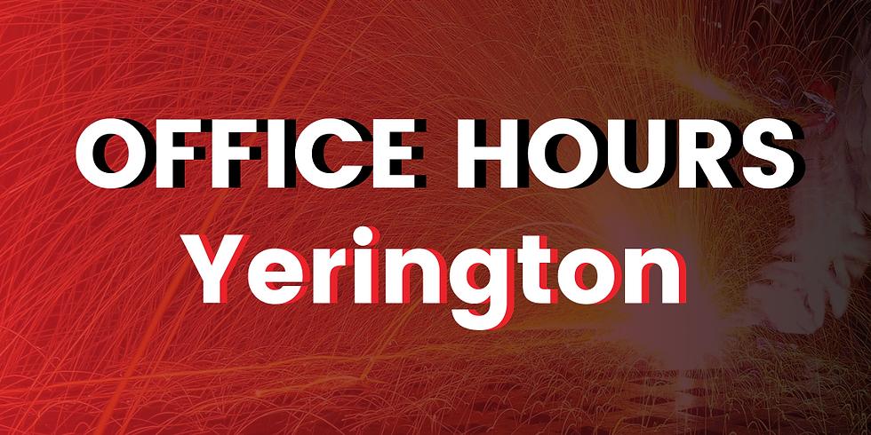 Yerington Office Hours