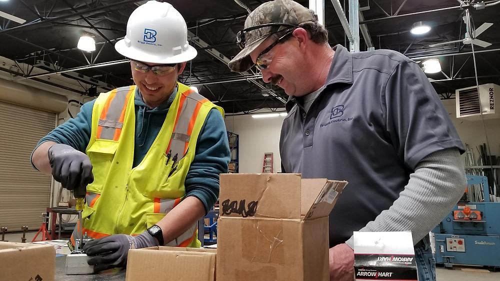 Arturo Ortiz and Bob Seymour at Briggs Electric