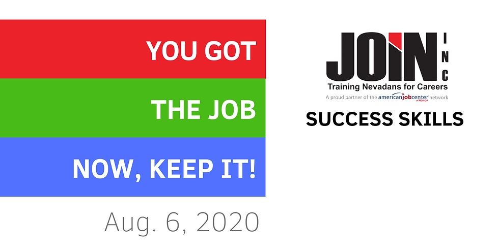 You Got the Job, Now Keep It