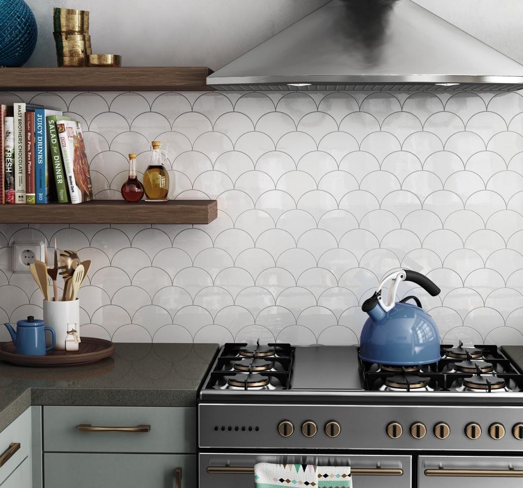 אריחי מניפה לחיפוי קירות מטבח