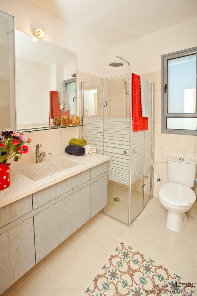 עיצוב חדר אמבטיה חיפוי בקרמיקה