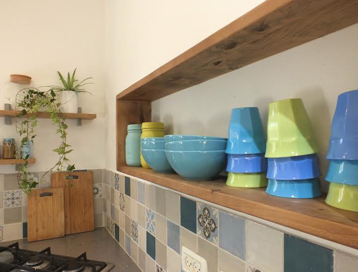 אריחים מעוטרים למטבח בסגנון כפרי