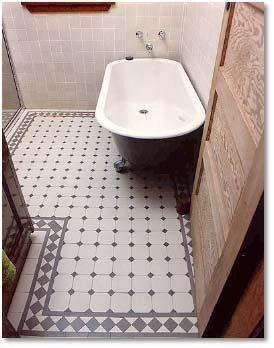 אריחי מתומן ברצפת מקלחון