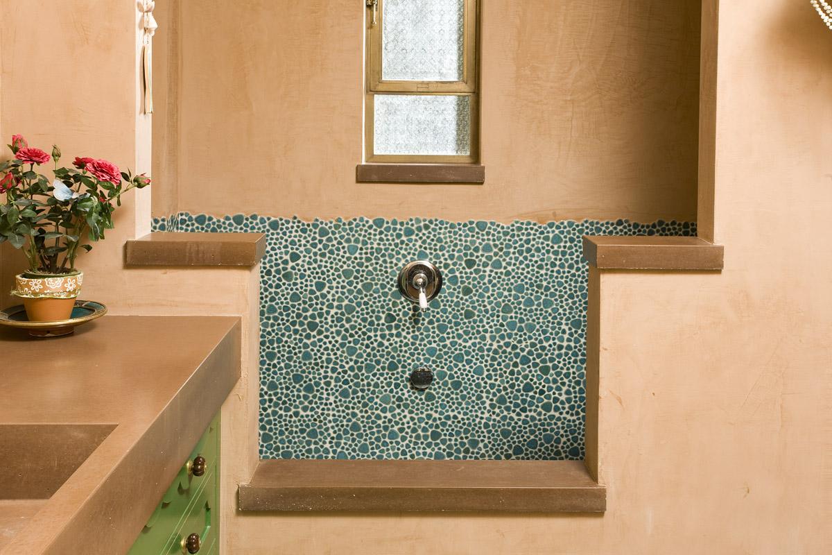 עיצוב חדר אמבטיה באמצעות פסיפס
