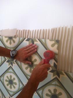 חיפוי קירות מטבח- עבודת ריצוף