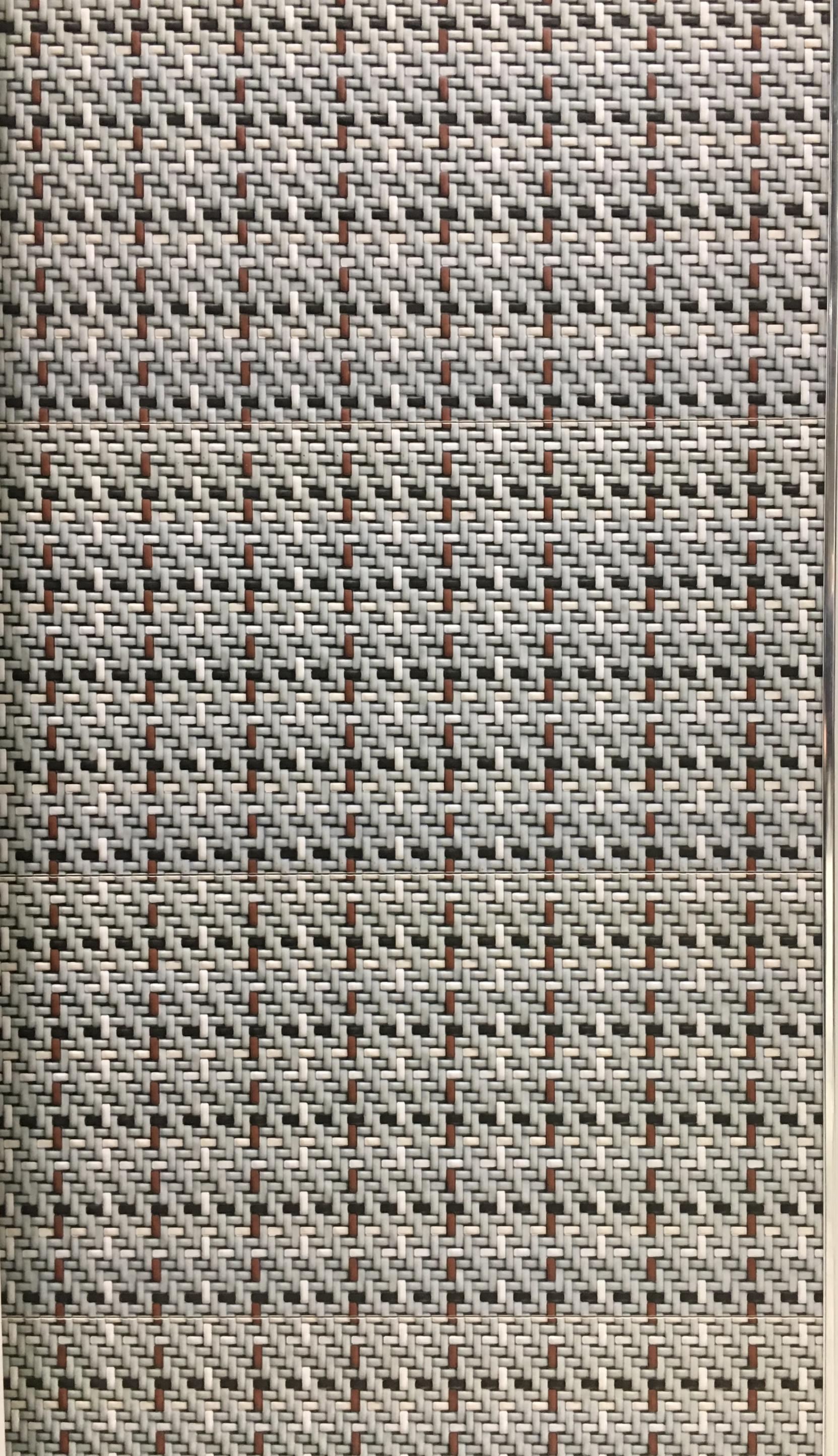אריחי פורצלן מסדרת ארוגים בתבליט עדין