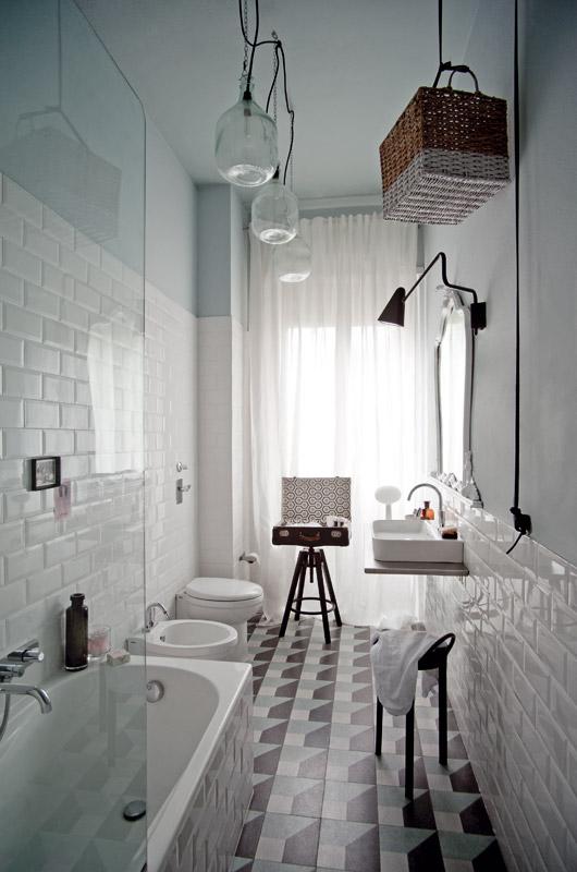 ריצוף מצוייר לאמבטיה