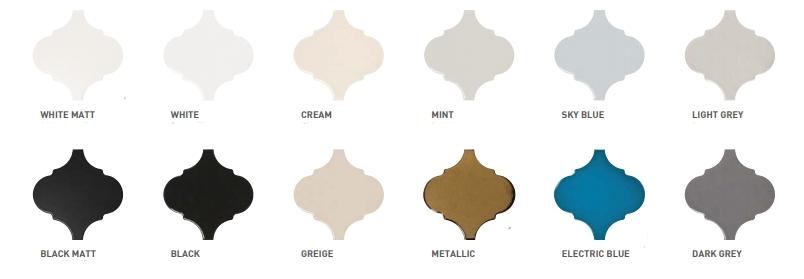 אריחי כנורות בצבעים שונים