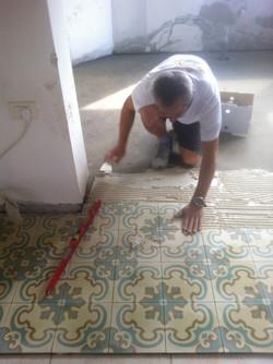 מרצפות מצוירות אריחי בטון מצוירים