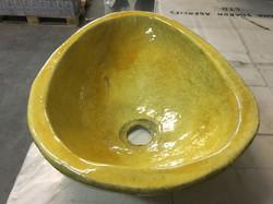 כיור אובלי בצבעי צהוב אוקר