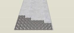 משטח חניה מרוצף משרביות בטון