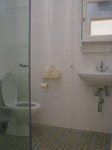 אריחי בטון מצוירים במקלחת