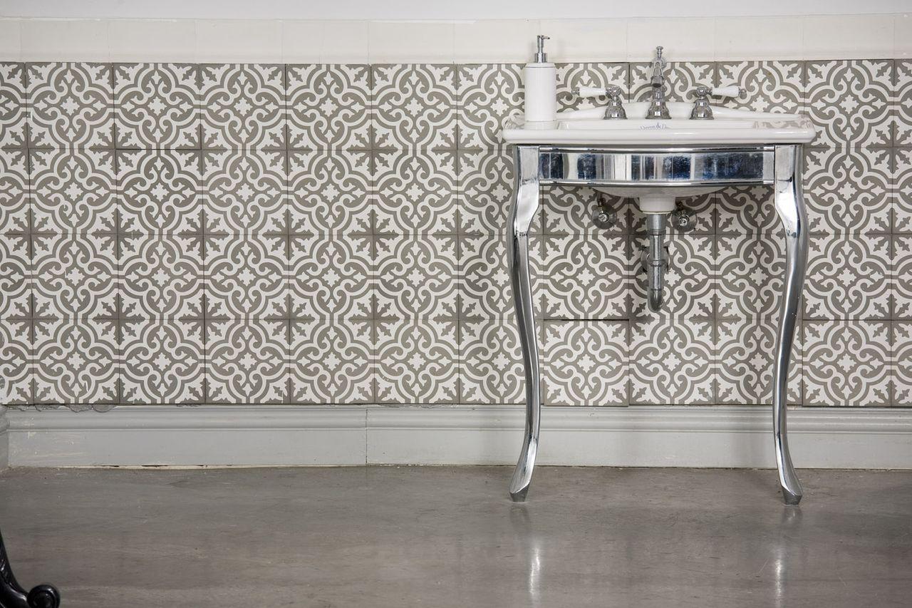 עיצוב חדרי אמבטיה באריחים מצוירים