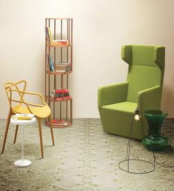 אריחי פורצלן מעוטרים בסגנון שטיח