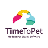 Easy use modern pet sitting software phone app logo