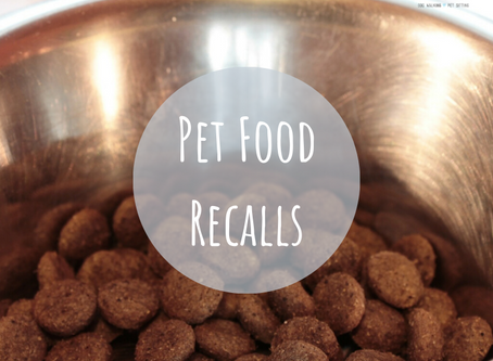 Current Pet Food Recalls (updated frequently)