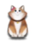Ritzy cat cartoon character brown collar white fur pink bow ribbon The Brain Train game mobile app
