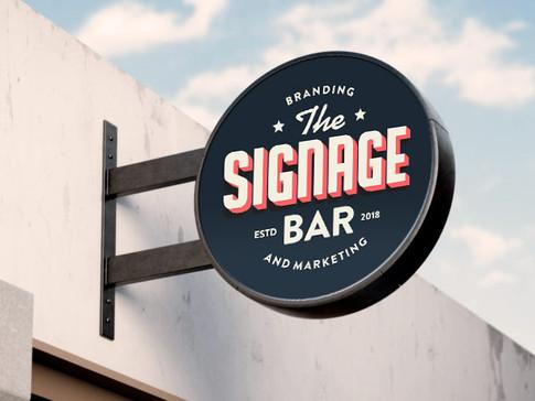 The Signage Bar | Art Direction & Graphic Design