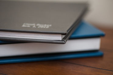Thick page lay flat albums blue and gray professional printed book