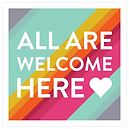 All are welcome here badge