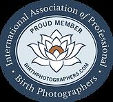 member of IAPBP International Association of Professional Birth Photographers