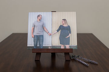 individual mounted print on an easel