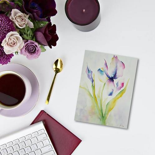 Iris Note Card & Greeting Card