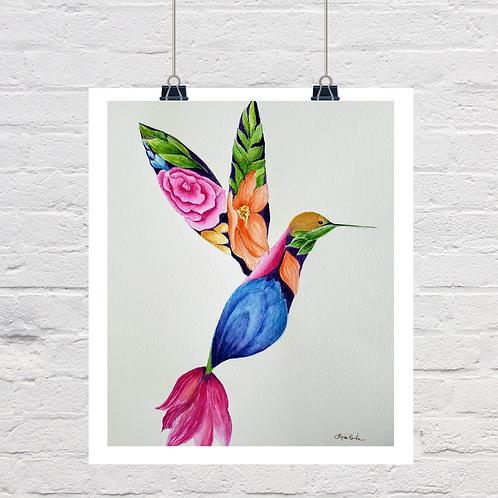 Floral Hummingbird (SOLD)