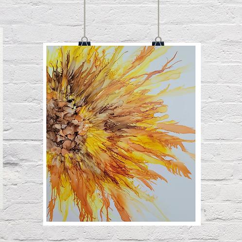 """Sunflower Madness"" original painting"