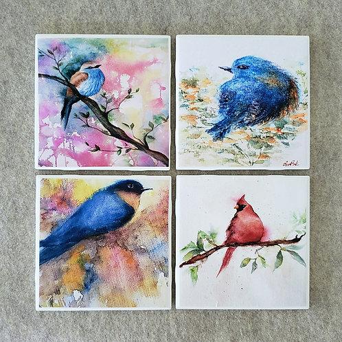 Set of 4 Birdie Coasters