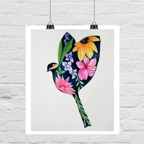 Floral Chickadee