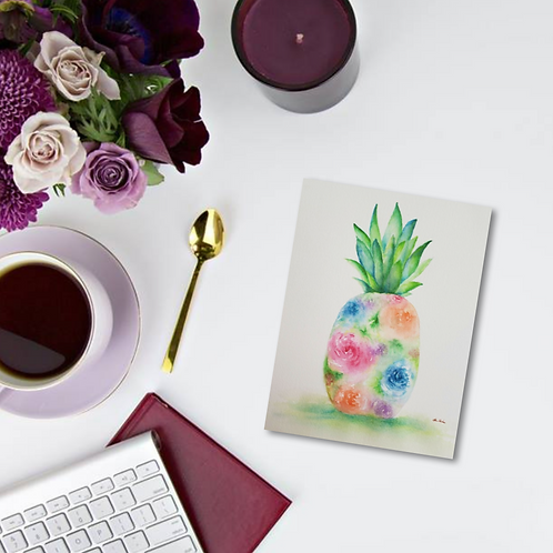 Pineapple Happiness Note Card & Greeting Card