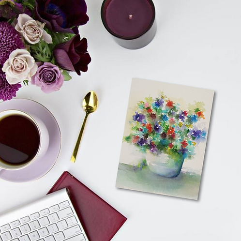 Summer Blooms Note Card & Greeting Card