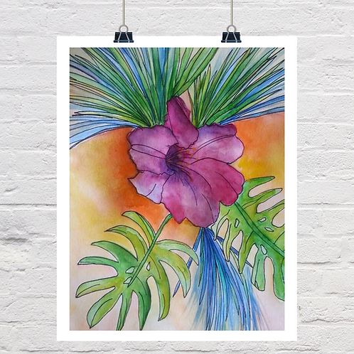 Hibiscus and Ink