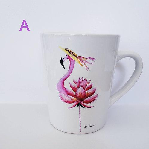 Set of 4 or 2 Flamingo Mugs