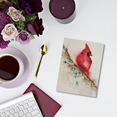 Cardinal Note Card & Greeting Card