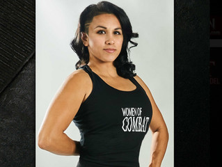 Peak's very own Chaos Cass a calendar model for WomenofCombat. Show your support for ladies in c