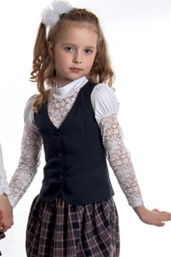 Жилет для девочки классический синяя п/ш