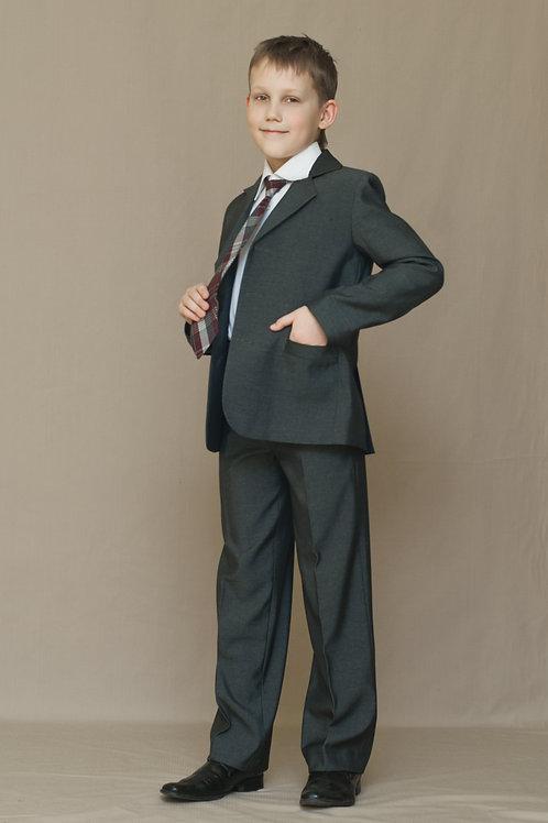 Пиджак для мальчика «Саша», ткань серый габардин