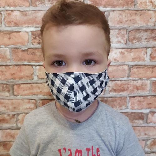 """Детская  многоразовая защитная маска """"Шахматы"""""""