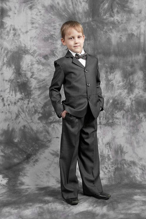 Пиджак для мальчика «Саша», ткань серая костюмная