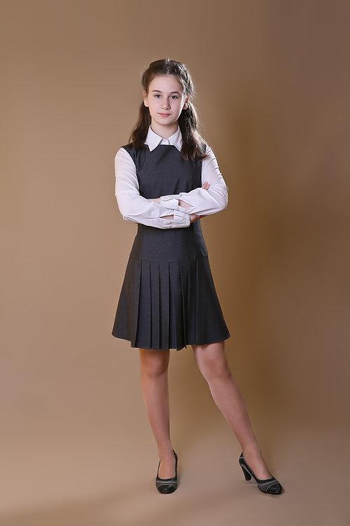 Сарафан «Даша» серая костюмная