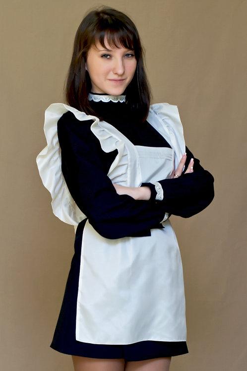 Платье для Последнего звонка черное, воротник - стойка